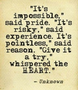 Impossible, Risky, Pointless, Try...